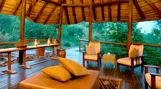 Impodimo Game Lodge - Madikwe Game Reserve - Lounge Deck
