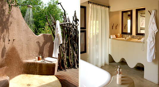 Impodimo Game Lodge - Madikwe Game Reserve - Outdoor Shower & Bathroom