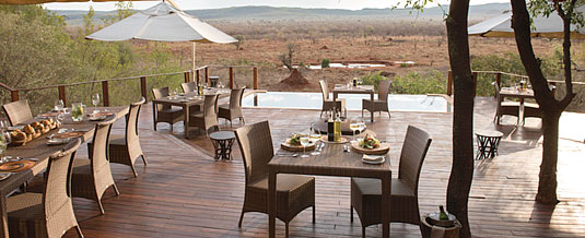 Madikwe Hills Private Game Lodge - Madikwe Game Reserve - Dining On the Deck