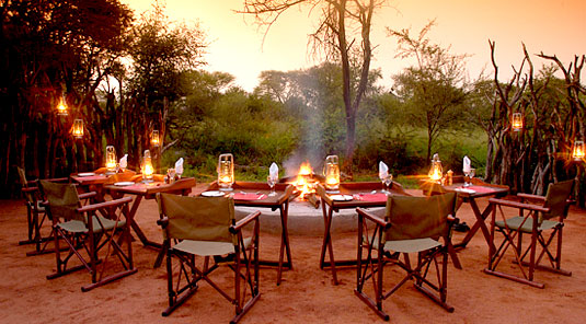 Motswiri Safari Lodge - Boma Dining - Madikwe Game Reserve