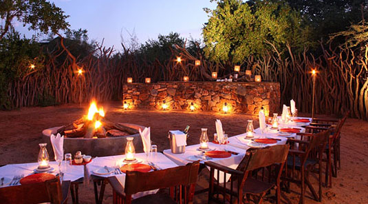 Madikwe Game Reserve - Rhulani Safari Lodge - Boma Dining