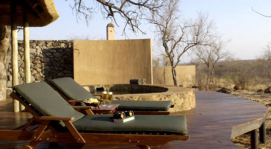 Madikwe Game Reserve - Rhulani Safari Lodge - Luxury Chalet Deck