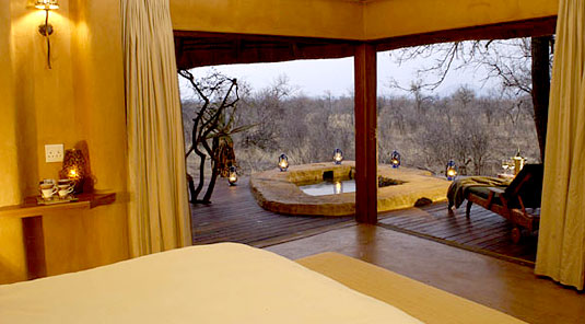 Madikwe Game Reserve - Rhulani Safari Lodge - Luxury Chalet view of Deck