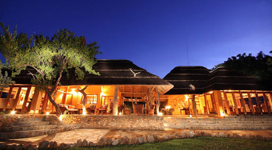 Madikwe Game Reserve - Rhulani Safari Lodge - Main Lodge at Night