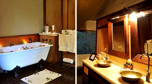 Thakadu River Camp - TSented Suite  Bathroom - Madikwe Game Reserve
