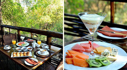 Thakadu River Camp -  Breakfast - Madikwe Game Reserve