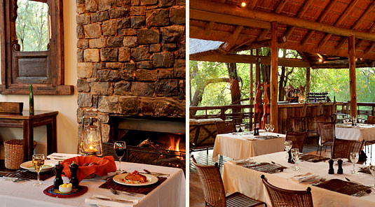 Thakadu River Camp - Main Lodge Dining -  Madikwe Game Reserve