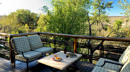 Thakadu River Camp - Deck Loungers - Madikwe Game Reserve