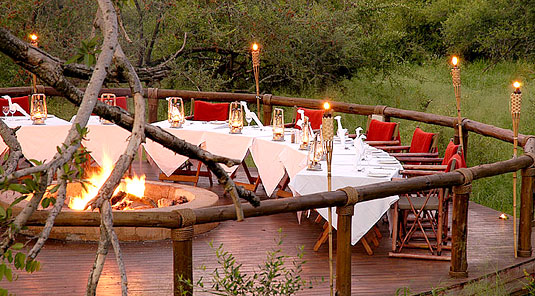 Boma Dining - Tuningi Safari Lodge - Madikwe Game Reserve